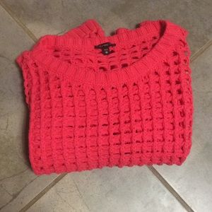Express Open Knit Coral Sweater